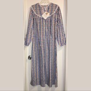 NWT lanz of salzburg flannel nightgown sz S